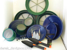SE Blue Deluxe Mini / Large Gold Classifier Screen & Gold Pan Panning Kit
