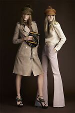$6,000 Burberry Prorsum sz 8 Nude Suede Leather Trench Coat Jacket Women Gift