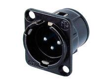 Neutrik NC3MD-V-BAG XLR 3 Pin Male D Series PCBV Black/Silver Contacts 1136