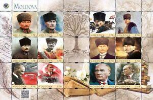 Moldova 2020, Turkey History, Mustafa Kemal Atatürk, sheet of 12v