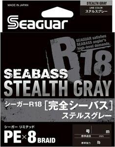 Seaguar R18 Kanzen Seabass 200m 15lb #0.8 Stealth Gray 0.148mm 8 Braid PE