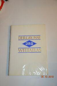 Großer schöner JRO Weltatlas, Luxusausgabe m. Schallplatte Musik der Völker 1961