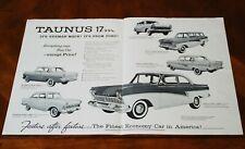 Ford Taunus 17M US brochure Prospekt, 1959