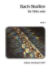 Bach-Studies for Flute Heft 1, sheet music; Bach, Johann Sebastian, EB 6857