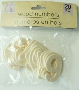 """Unfinished Wood - Wood Numbers 20 pc. 1 1/2"""" in. Tall"""
