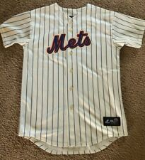 MENS AUTHENTIC MAJESTIC METS PINSTRIPED JERSEY DAVID WRIGHT #5 SIZE XL EUC