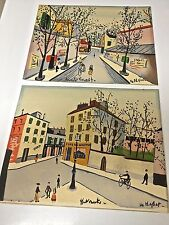 Two Vintage  Pieces of Street Art from France