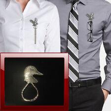 Ducks Head B28 Pewter Pin Brooch Drop Hoop Holder Glasses,Pen,Jewellery