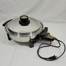 Kitchen Craft West Bend Electric Skillet Liquid Core Stainless Steel 900W Tested