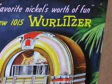 WURLITZER 1015 -Drive-In Restaurant -Shows Jukebox -OLD Soda Shop SIGN Dated1993