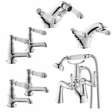 Deck Mounted Traditional Bathroom Taps with Hand Held Shower