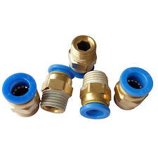 """5 pcs 10 mm Tube Push in Fitting to 1/4"""" BSPT Male Air Pneumatic Connector"""