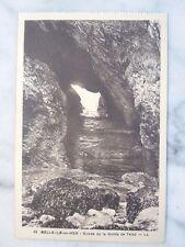 Carte postale entrée de la grotte de Talud à Belle-île-en-Mer