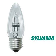 1x SYLVANIA halogène bougie classique 42W E27 240V Ampoule Transparent 0023773