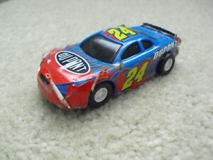 Vintage 1990s Golden Bright Dupont #24 Jeff Gordon NASCAR Race Car Slot Car