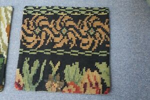 "Turkish Anatolian Kilim Pillow Cushion Hand Woven Wool 18"" x 18"" Zipper Back 59"