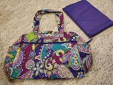 Vera Bradley Heather purple Paisley baby diaper bag new with tag