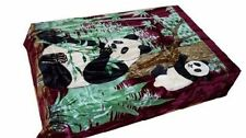 Solaron Korean Blanket throw thick Mink Plush king size baby Panda burgundy new