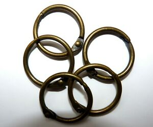 Metal Binding Rings in 25mm Antique Brass and in Packs 4,10,20,50,100,and 250