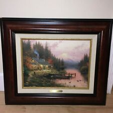 """Thomas Kinkade """"End Of A Perfect Day"""" Exquisite Reproduction"""