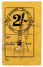(I.B) North Eastern Railway : Parcel Stamp 2/- (Irthington)