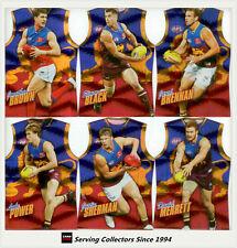 2010 Select AFL Champions Holofoil Jersey Die Cut Card Team Set (12)-Brisbane