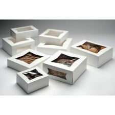 "Bakery Box With Window White Paper - 10"" Sq x 2 1/2 D 200 Per Case"