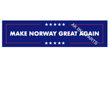 Make Norway Great Again Car Sticker Trump 2016 US election