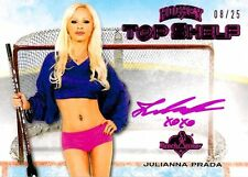 c79d90912b0 Julianna Prada 33 2014 Bench Warmer Hockey Top Shelf Autograph Auto Pink  08 25