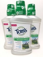 Tom's of Maine 3-pk Wicked Fresh Mouthwash Cool Mountain Mint 16 oz Sealed C3 AA
