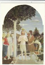 Piero della Francesca The Baptism of Christ Postcard unused VGC