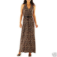 R&k Originals Leopard Print Belted Maxi Dress Size XL