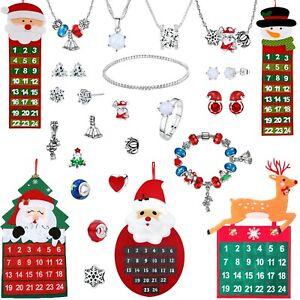 Jewellery Christmas Advent Calendar Xmas Gifts Santa Snowman Swarovski UK Gift