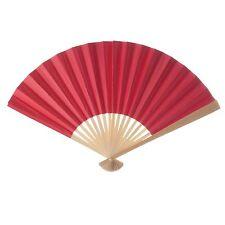 On Sale! Lot of 24 Koyal Decorative Paper Fans, Red - K1506029L