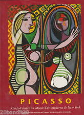 PICASSO CHEFS-D'OEUVRE DU MUSEE D'ART MODERNE NEW YORK BEAUX ARTS CANADA 1997