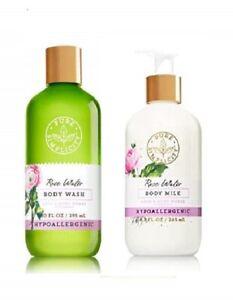 Bath & Body Works Pure Simplicity Rose Water Body Wash & Body Milk 2 Piece Set