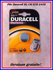 PILE RONDE DURACELL DK2450 - CR2450 - ECR 2450 BATTERIE BOUTON LITHIUM 3 VOLT