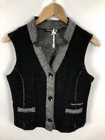 BETTY BARCLAY Damen Weste, Größe 40, schwarz-grau, schick und fein, Wolle