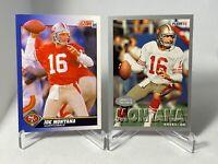 Joe Montana 2 card lot 1991 Score 1993 Fleer