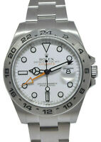 Rolex Explorer II Stainless Steel White Dial Mens 42mm Watch 216570