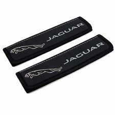 Leather Car Seat Belt Shoulder Pads Covers Cushion For Jaguar Black 2 pcs