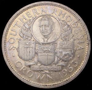 Southern Rhodesia Silver Crown 1953 - Birth of Rhodes Centennial (GLIC-004I)