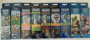 BRAUN ORAL B BRUSH HEADS 4 PACK. GENUINE