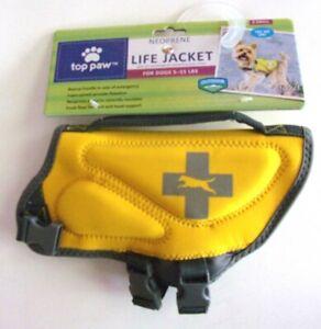 Neoprene Dog Life Jacket - TOP PAW - Sz XS 5-15 lbs - Yellow