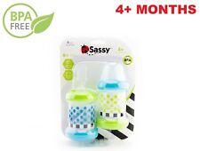 Set Of 2 Baby Food Feeder Bottles With Nipple Spoon Bpa Free 4 Oz 4+ Months