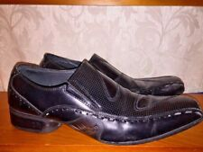 GIORGIO BRUTINI Leather Black Dragon Skin Sole Loafers Oxfords Shoes Mens Sz 11