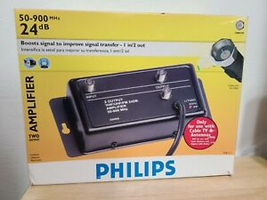 Philips tv home audio signal amplifiers 24 dB Two output