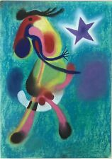 MIRO - ORIGINAL PAINTING/DRAWING, signed Miro, Nice Paperwork,1/4 GALLERY PRICE