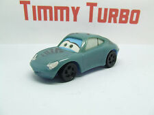 CARS DISNEY PIXAR SALLY BLUE PORSCHE 911 PLASTIC 95 MM LONG PULL BACK & GO