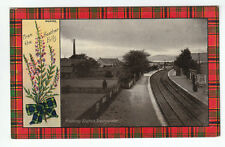 Railway Station And Factory Chimney Invergordon Ross-shire Munro Tartan Davidson